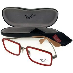 Ray Ban RX6337-2856-53 Men's Red Frame Eyeglasses